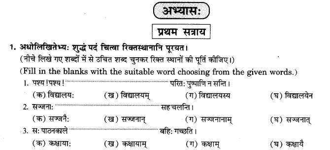 NCERT Solutions for Class 9th Sanskrit Chapter 16 Adhikarana Karak Proyogah 8