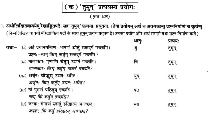 NCERT Solutions for Class 9th Sanskrit Chapter 17 Tumun Katvaa Layapa Pratyayanam Prayogah 1