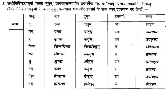 NCERT Solutions for Class 9th Sanskrit Chapter 17 Tumun Katvaa Layapa Pratyayanam Prayogah 10