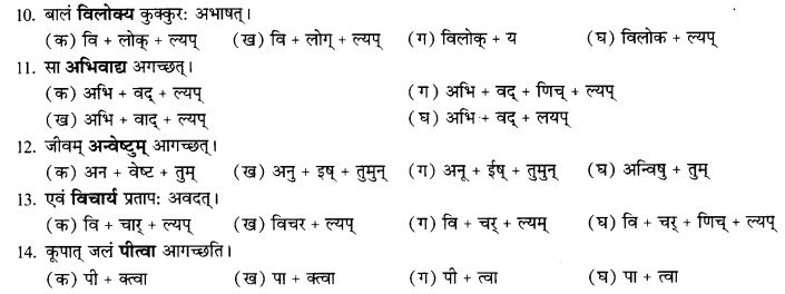 NCERT Solutions for Class 9th Sanskrit Chapter 17 Tumun Katvaa Layapa Pratyayanam Prayogah 12