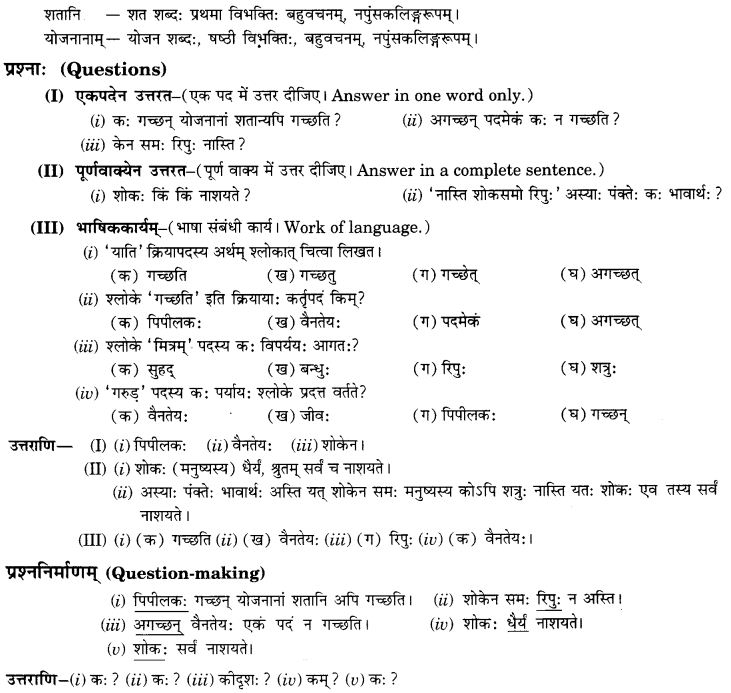 NCERT Solutions for Class 9th Sanskrit Chapter 3 Patheyam 11