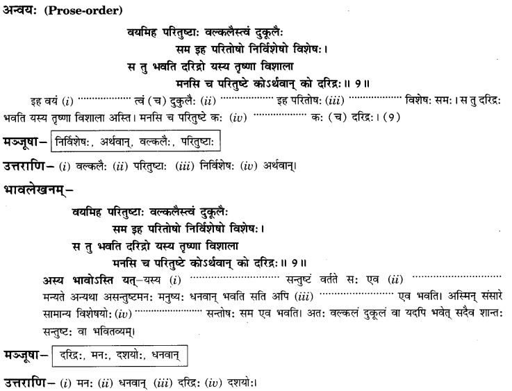 NCERT Solutions for Class 9th Sanskrit Chapter 3 Patheyam 25
