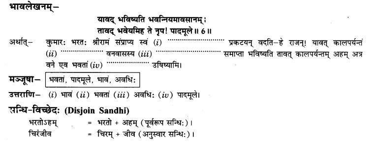 NCERT Solutions for Class 9th Sanskrit Chapter 5 Bhratrusanehastu Drulabh 21