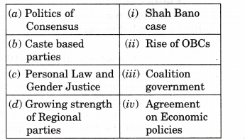 NCERT Solutions for Class 12 Political Science Recent Developments in Indian Politics Q2