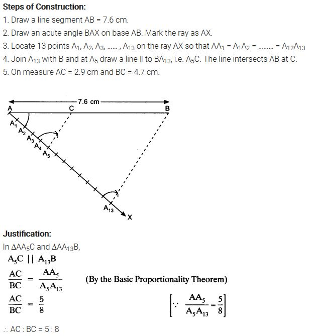 NCERT Solutions For Class 10 Maths Chapter 11 Pdf Constructions Ex 11.1 Q1
