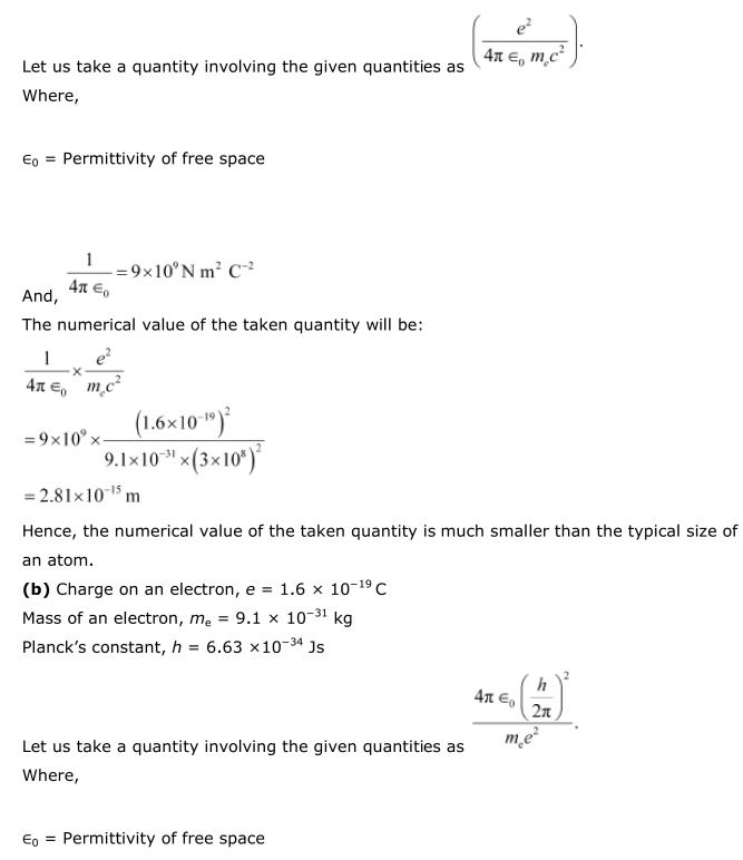 NCERT Solutions For Class 12 Physics Chapter 12 Atoms 16
