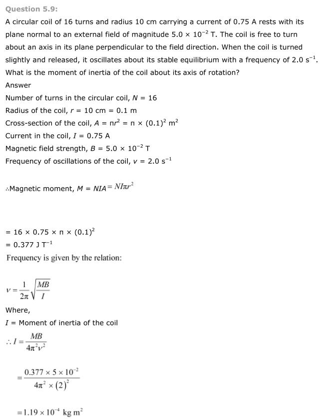 NCERT Solutions For Class 12 Physics Chapter 5 Magnetism and Matter 8