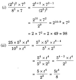 NCERT Solutions for Class 7 Maths Chapter 13 Exponents and Powers Ex 13.2 8