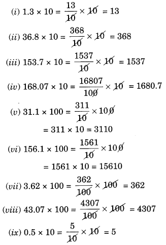 NCERT Solutions for Class 7 Maths Chapter 2 Fractions and Decimals Ex 2.6 1