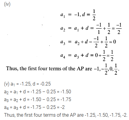 Arithmetic Progression Class 10 NCERT Solutions Pdf Ex 5.1 Q2.1
