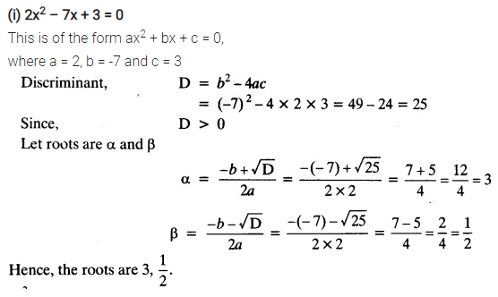 Ex 4.3 Class 10 Maths NCERT Solutions Chapter 4 Quadratic Equations PDF Download Q2