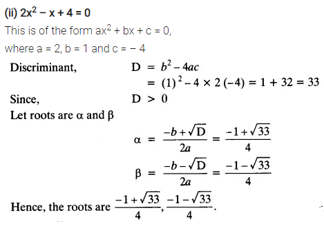 Ex 4.3 Class 10 Maths NCERT Solutions Chapter 4 Quadratic Equations PDF Q2.1