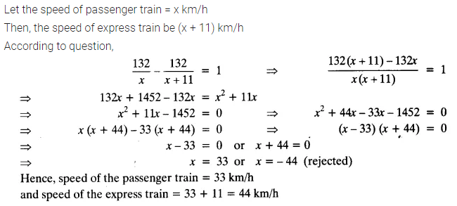Ex 4.3 Class 10 Maths NCERT Solutions Chapter 4 Quadratic Equations Q10