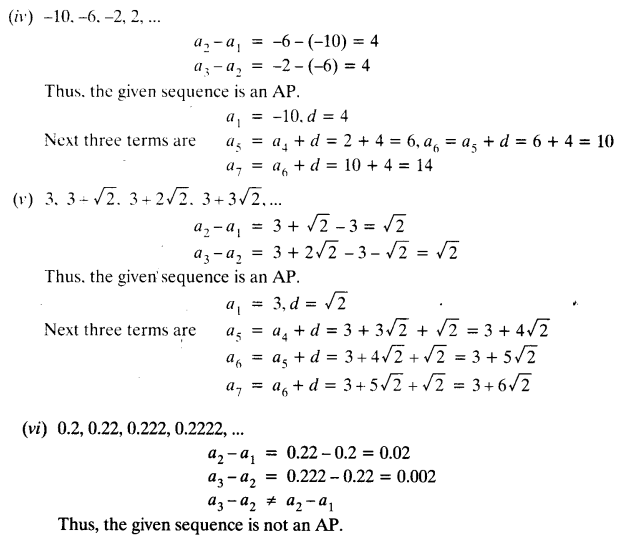 Ex 5.1 Class 10 Maths NCERT Solutions Arithmetic Progression Ex 5.1 Q4.1