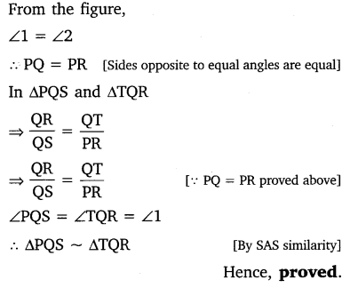 similarity of triangles class 10