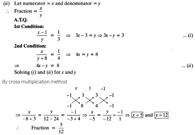Exercise 3.5 Class 10 Maths NCERT Solutions Pair Of Linear Equations In Two Variables Q4.1