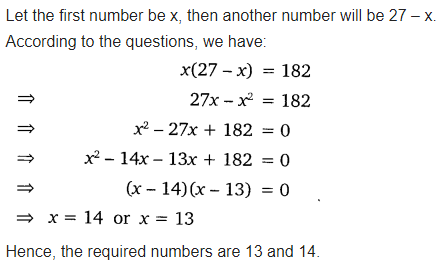 Exercise 4.2 Class 10 Maths NCERT Solutions Chapter 4 Quadratic Equations Free PDF Download Q3