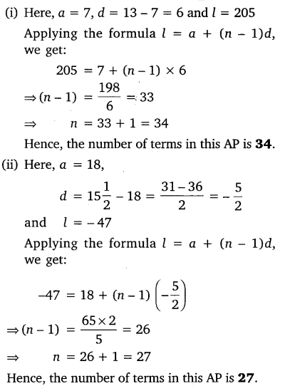 Exercise 5.2 Class 10 Maths NCERT Solutions Arithmetic Progression Q5