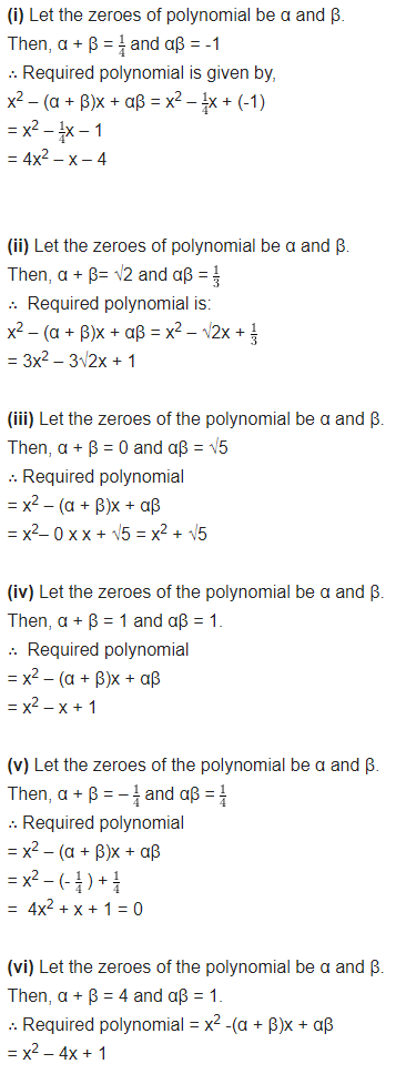 Polynomials Class 10 Chapter 2 NCERT Solutions Ex 2.2 Q2