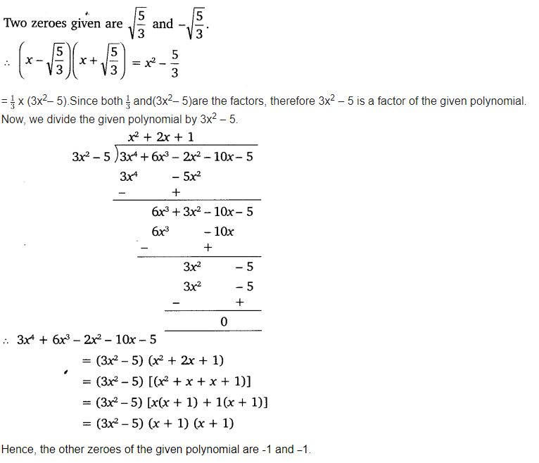 Polynomials Class 10 Chapter 2 Maths NCERT Solutions Ex 2.3 Q3