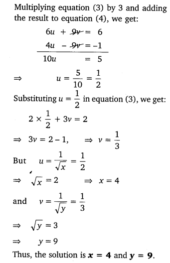 NCERT Solutions for Class 10 Maths Chapter 3 Pdf Pair Of Linear Equations In Two Variables Ex 3.6 Q1.2