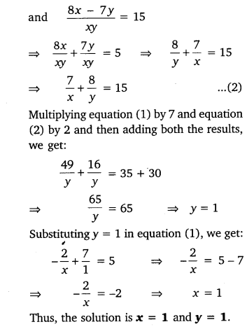 NCERT Solutions for Class 10 Maths Chapter 3 Pdf Pair Of Linear Equations In Two Variables Ex 3.6 Q1.6