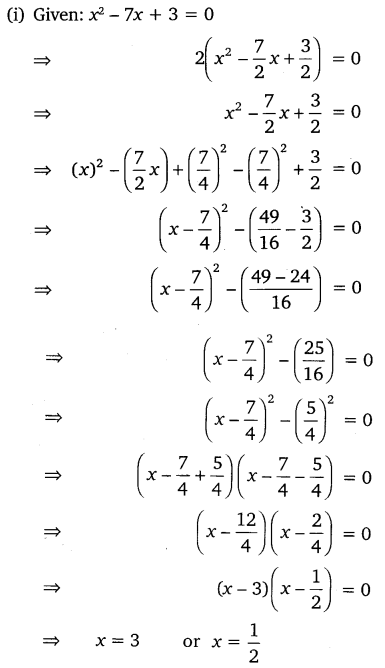 NCERT Solutions for Class 10 Maths Chapter 4 Quadratic Equations Exercise 4.3 Free PDF Download Q1