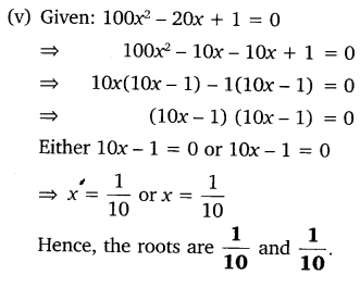 NCERT Solutions for Class 10 Maths Chapter 4 Quadratic Equations Exercise PDF 4.2 Q1