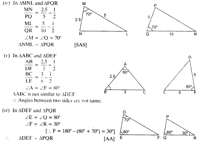 NCERT Solutions for Class 10 Maths Chapter 6 pdf Triangles Ex 6.3 Q1.1