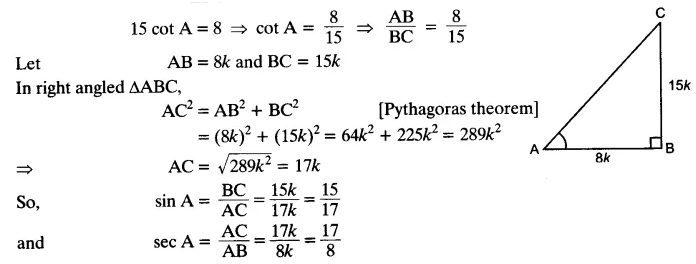 NCERT Solutions for Class 10 Maths Chapter 8 Trigonometry Exercise 8.1 Free PDF Download Q4