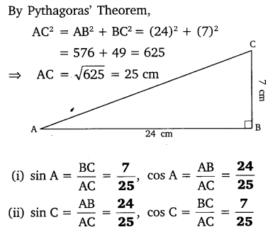 NCERT Solutions for Class 10 Maths Chapter 8 Trigonometry Exercise 8.1 Q1