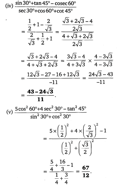 NCERT Solutions for Class 10 Maths Chapter 8 Trigonometry Exercise 8.2 PDF Download Q1.1