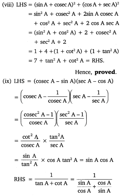 NCERT Solutions for Class 10 Maths Chapter 8 Trigonometry Exercise 8.4 Q5.6