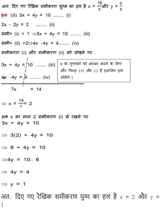 Class 10 maths solutions chapter 3 exercise 3.4 in PDF