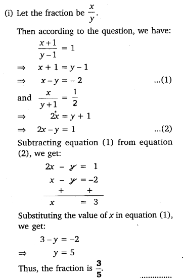 Pair Of Linear Equations In Two Variables Class 10 Maths NCERT Solutions Ex 3.4 Q2