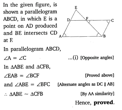 Triangles Class 10 Ex 6.3 NCERT Solutions PDF Q8