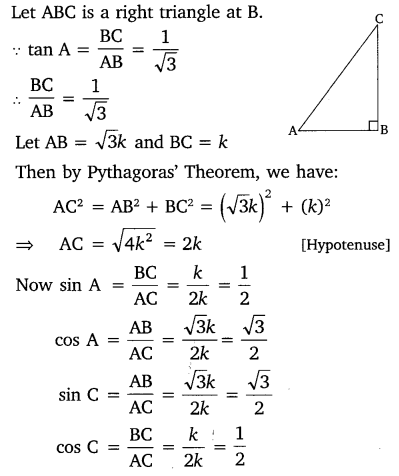 Trigonometry Class 10 Chapter 8 Exercise 8.1 NCERT Solutions Free PDF Download Q9