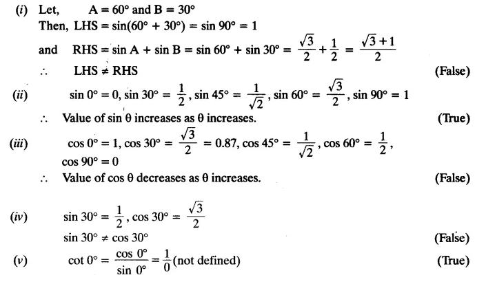 Trigonometry Class 10 Chapter 8 Exercise 8.2 NCERT Solutions Q4