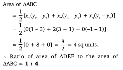 exercise 7.3 Maths Class 10 Coordinate Geometry NCERT Solutions PDF Download Q3.1