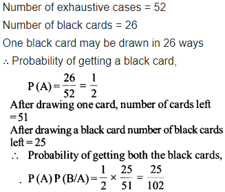 Class 12 Maths NCERT Solutions Chapter 13 Probability Ex 13.2 Q 2