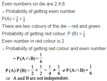 Maths Class 12 NCERT Solutions Chapter 13 Probability Ex 13.2 Q 5