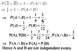 NCERT Solutions for Class 12 Maths Chapter 13 Probability Ex 13.2 Q 10