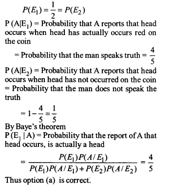 NCERT Solutions for Class 12 Maths Chapter 13 Probability Ex 13.3 Q 13 - i