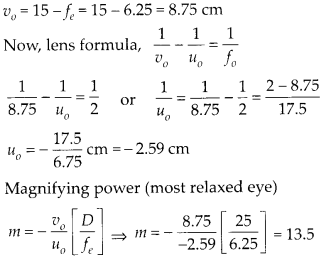 NCERT Solutions for Class 12 Physics Chapter 9 Ray Optics and Optical Instruments Q11.3