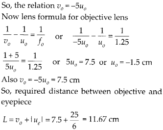 NCERT Solutions for Class 12 Physics Chapter 9 Ray Optics and Optical Instruments Q33.1