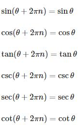 Trigonometric Formulas Periodicity and Periodic Functions