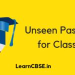 Unseen Passage for Class 6
