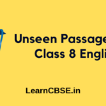 Unseen Passages for Class 8 English