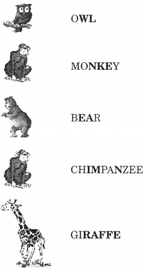 NCERT Solutions for Class 2 English Chapter 10 Zoo Manners Lets Do Q2.1