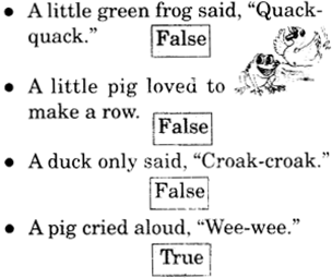 NCERT Solutions for Class 2 English Chapter 20 Strange Talk Reading is Fun Q1